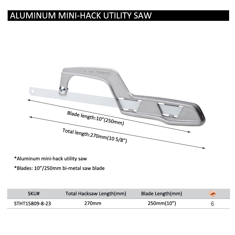 stanley aluminum mini hack saw