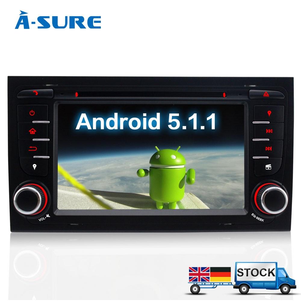 """imágenes para A-sure 7 """"coches Reproductor de DVD 2 Din GPS Android 5.1 Radio Navegación para Audi A4 S4 RS4 B9 8F B7 8E Exeo DAB +/WIFi"""