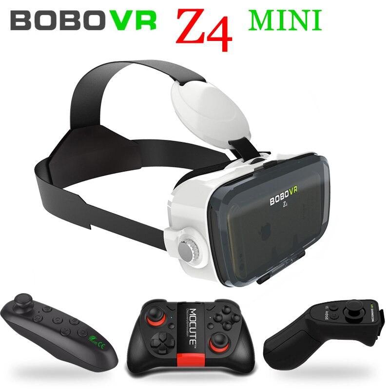 Xiaozhai Bobo VR Bobovr Z4 Mini 3D Google Card board Virtual Reality Goggles 3D Glasses Smartphone Helmet Headset Lens + GamePad