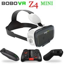 Bobo Xiaozhai VR Bobovr Z4 Mini placa de Cartão de Óculos de Realidade Virtual Óculos 3D 3D Google Smartphone fone de Ouvido do Capacete Lente + gamePad
