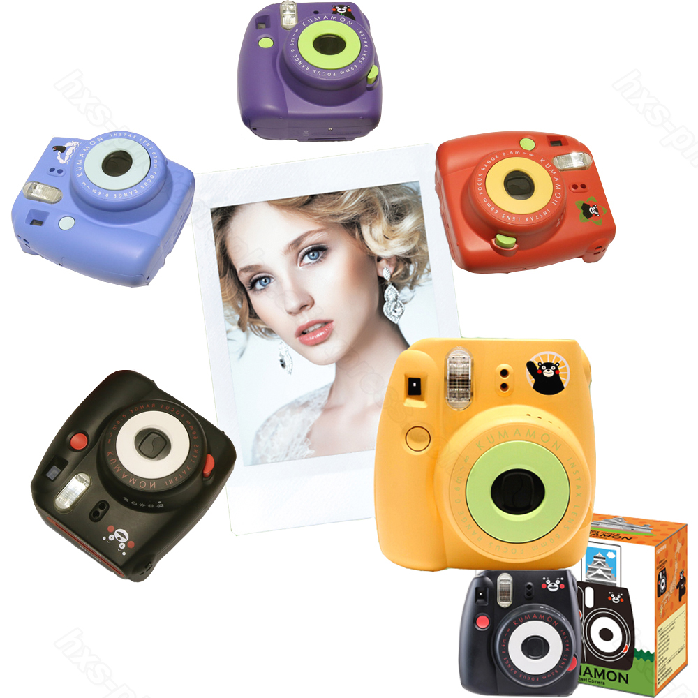 Fujifilm Instax Mini 8 Kumamon ensemble caméra instantanée Kumamon caméra + Film Kumamon + cahier spécial + porte-clés + sangle + autocollant