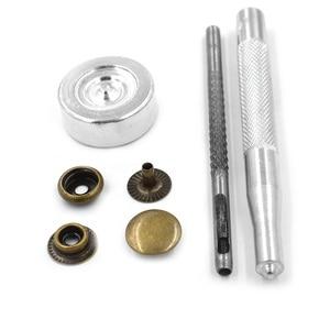 Image 2 - 100 bộ/lô Kim Loại snap công cụ fastener buttons Đinh Tán T8 T5 T3 snaps buttons jacket Quần Áo và Phụ Kiện. may sửa chữa snaps