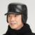 Couro Real da pele de Carneiro dos homens Bonés de Beisebol Plana-Coberto Grande Ear'S Guia Chapéus Cap Mais Grosso Inverno Quente