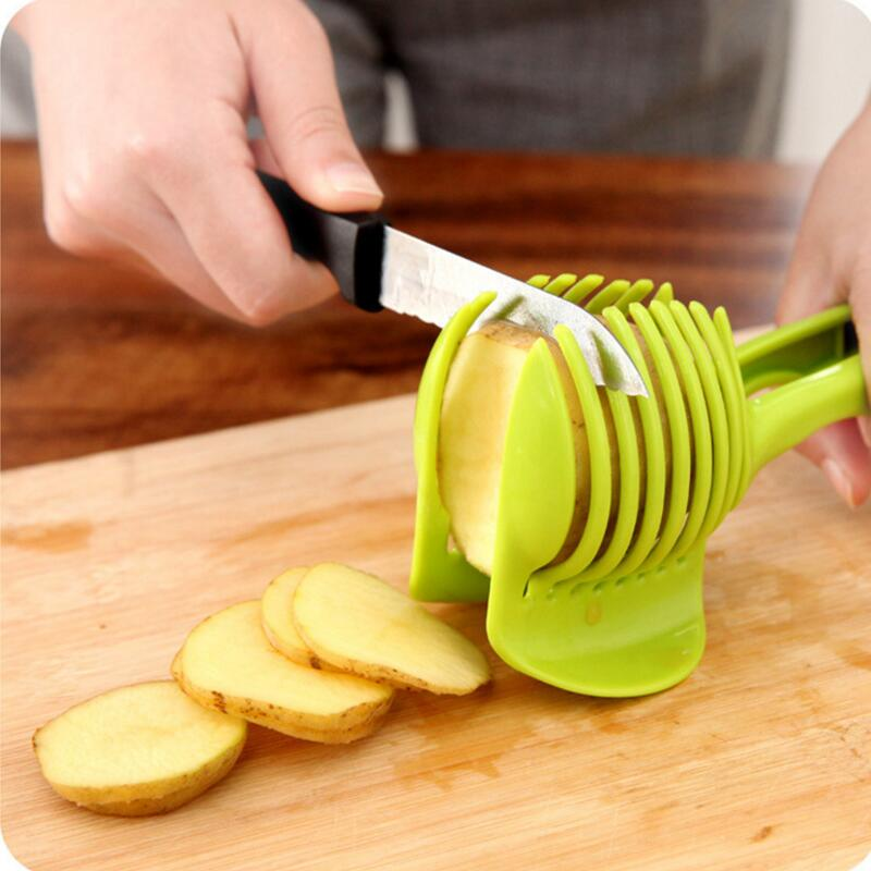 Plastic Potato Slicer Tomato Cutter Tool Shreadders Lemon Cutting Holder Cooking Tools Kitchen Accessories China