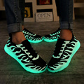Fall students tide   men shoes will shine fluorescent   luminescent shoes couple ghost dance step canvas breathable shoes