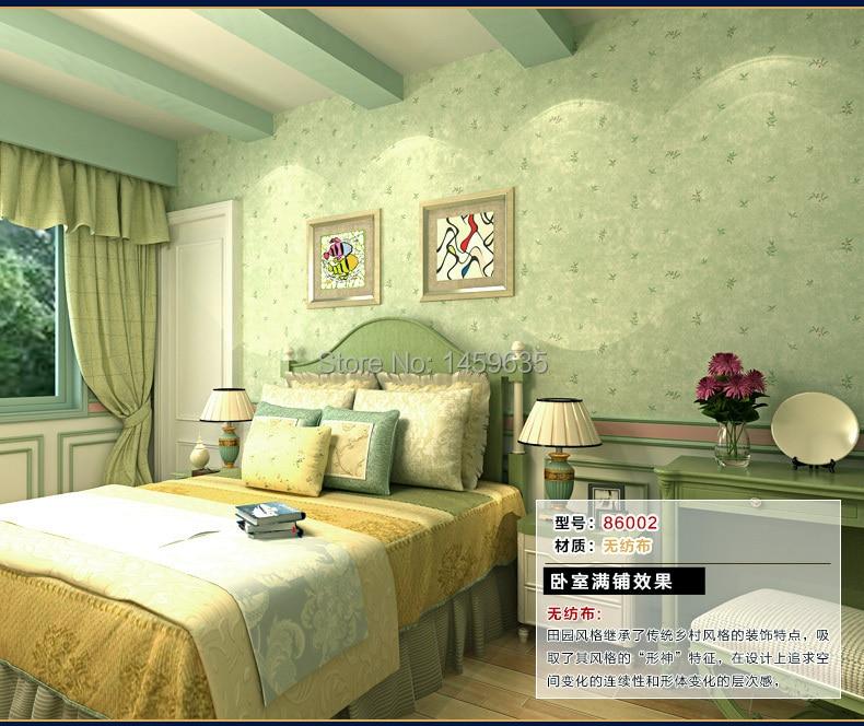 bedroom living warm tv backdrop garden floral wallpapers nonwoven