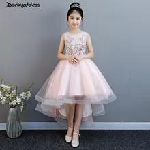 ec2c5a4775fff Rose fleur filles robes pour les mariages robe de bal enfants enfants  soirée robe 2019 première
