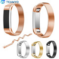 High Quality Rose Gold Black Sliver Milanese Stainless Steel Watch Band Strap Bracelet For Fitbit Alta Tracker Watch Accessories