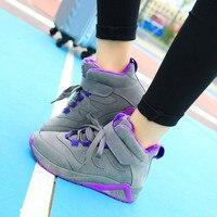 Women Casual Shoes 2018 Autumn Winter Warm Women Shoes Flats Platform Lace Up Fashion Breathable Women Sneakers