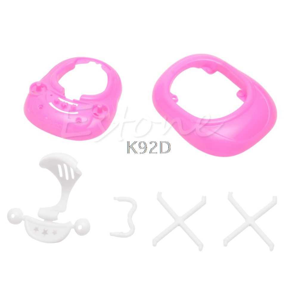 Plastica Camminatore 1:6 per Casa delle Bambole Miniatura casa delle bambole Regalo Del Bambino Rosa J05