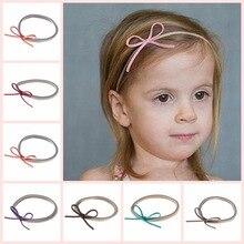 Lovely Newborn Headband Fashion Bunny Ear Kids Girl Bow Elastic Knot  Headbands DIY Bowknot Headwear Hair 44763b1112d1