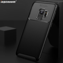 For Samsung Galaxy S9 Case S9+ Shell Carbon fiber TPU mobile phone back Cover Plus Coque