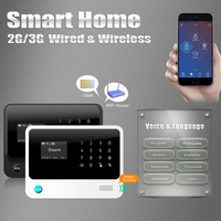 Russian English Spanish Voice G90B Plus Intruder WiFi 3G GSM Alarm System Android IOS App Smart