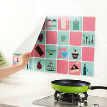 Kitchen Stickers Waterproof And Proof Oil Sticker Cartoon DIY Wall Art Decal Decoration Oven Dining Hall Wallpapers Home Decor