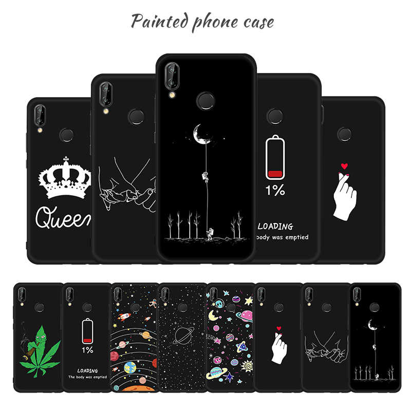 Space Plante Painted Silicon Case for Huawei Y7 Y5 Prime Y6 2018 Full Protective TPU Cover for Huawei Y6 Prime Y7 Pro Y5 Y9 2019