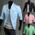 Blazers Seconds Kill Direct Selling Single Breasted Cotton 2014 Male Slim Sleeve Blazer Spring Outerwear Fashion Personality
