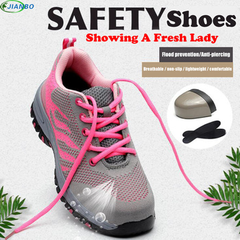 Size 35-46 Unisex Work Boots Breathable Safety Shoes Air Mesh Steel Toe Boots Work Shoes Men Footwear Outdoor Safety Boots 2018 big size men fashion breathable steel toe cap working safety shoes genuine leather slip on tooling boots protection footwear