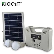 Solar system Oświetlenia Domu zestaw z 2 Akumulator Solar light blub