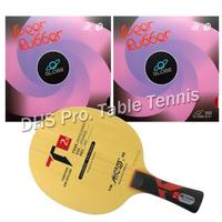 Pro Table Tennis Combo Paddle Racket Galaxy YINHE T2s with 2 Pcs Globe 999 Shakehand long handle FL