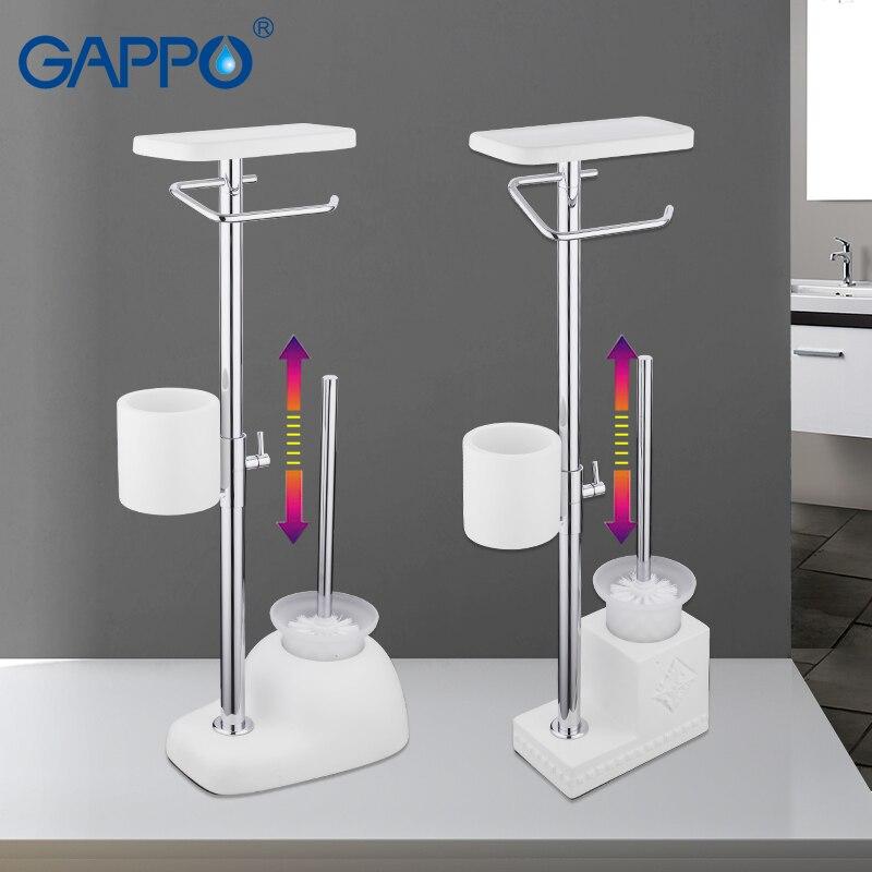GAPPO Toilet Brush Holders free standing bathroom toilet brush holders with paper holders toilet shelf bathroom
