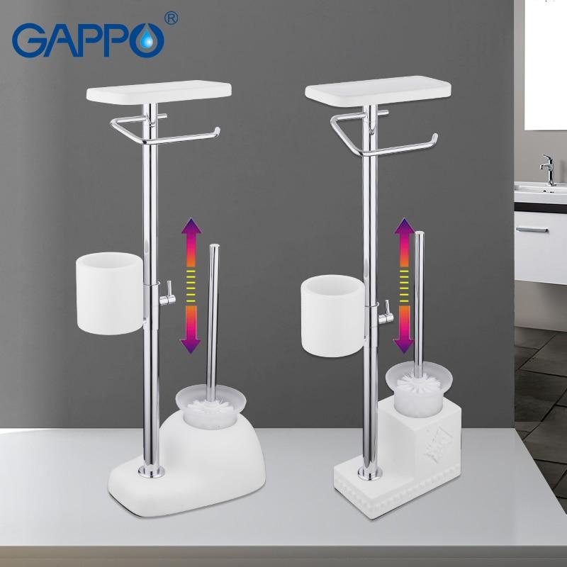 GAPPO ผู้ถือแปรงห้องน้ำห้องน้ำฟรีแปรงห้องน้ำผู้ถือผู้ถือกระดาษห้องน้ำชั้นวางอุปกรณ์ห้องน้ำ-ใน ที่วางแปรงสีฟัน จาก การปรับปรุงบ้าน บน AliExpress - 11.11_สิบเอ็ด สิบเอ็ดวันคนโสด 1