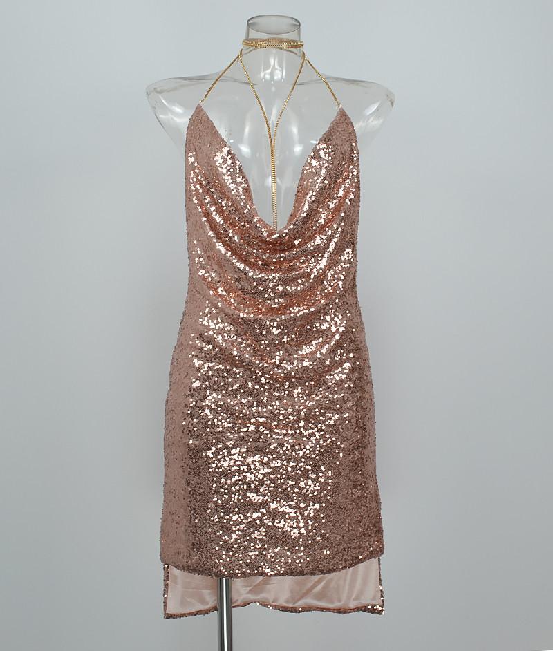 HTB1ud3lPpXXXXa0XXXXq6xXFXXXX - FREE SHIPPING Front Draped Backless Halter Sparkle Women's Sequin Dress JKP297