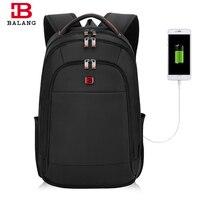 Balang Men S Backpacks Anti Thief Mochila For Laptop 15 6 Inch Large Capacity Black Backpack
