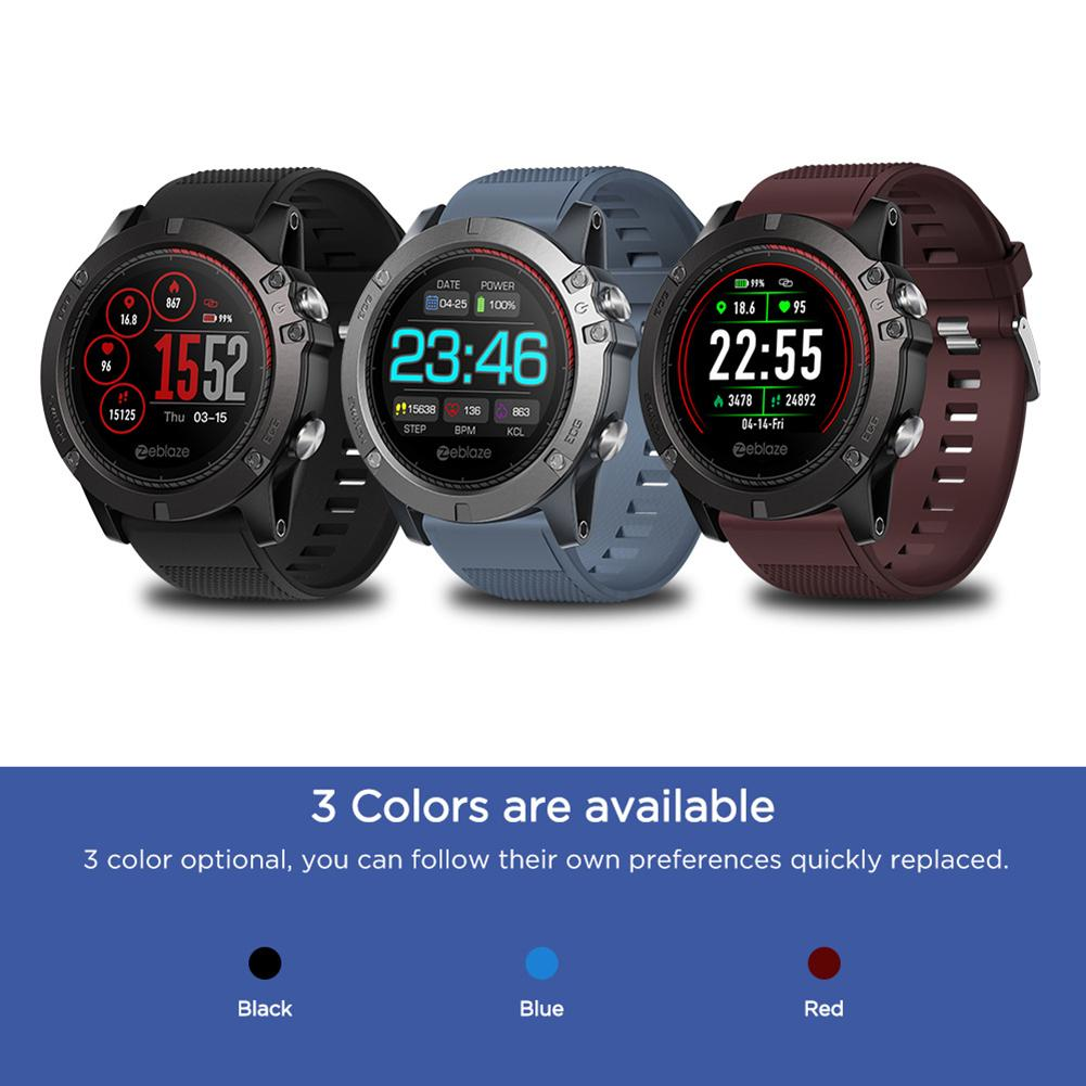 Zeblaze Vibe 3 ECG Smart Wristband Watch Color Screen Electrocardiogram Waterproof Heart Rate Monitoring Pedometer Sports-in Smart Watches from Consumer Electronics    1