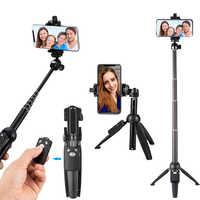 Treppiedi Selfie Bastone Bluetooth Remote Palmare Monopiede Auto bastone selfy stik per iphone 6 7 8 più di x IOS Android