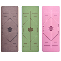 Position Line Natural Rubber Non Slip Tapete Yoga Suede Fabric Microfiber Lose Weight Exercise Mat Fitness Yoga Mat for Beginner