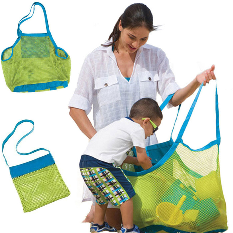 Foldable Portable Beach Bag Kids Children Mesh Storage Bag Outdoor Beach Park Swimming Toys Towel Clothes Organizer Swimming Bag