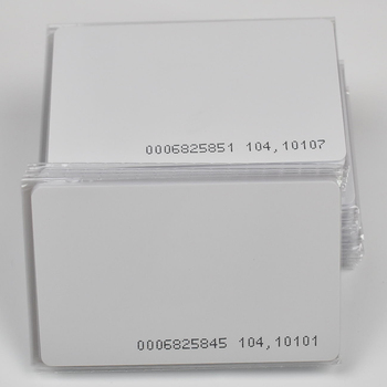 1000pcs/lot  TK4100 4102 /EM4100 chip RFID 125KHz blank card Thin PVC ID Smart Card for Access control