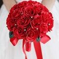 IFFO высокого класса пользовательских свадебное руки, держащей цветы красивые руки с цветами в руках diamond перл DIY украшения