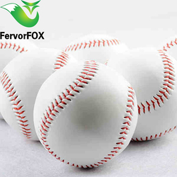 Hohe qualität 9 Handmade Baseballs PVC Oberen Gummi Inneres Weiche Baseball Bälle Softball Ball Übung Baseball Bälle