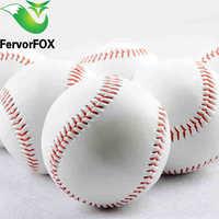 "Hohe qualität 9 ""Handmade Baseballs PVC Oberen Gummi Inneres Weiche Baseball Bälle Softball Ball Übung Baseball Bälle"
