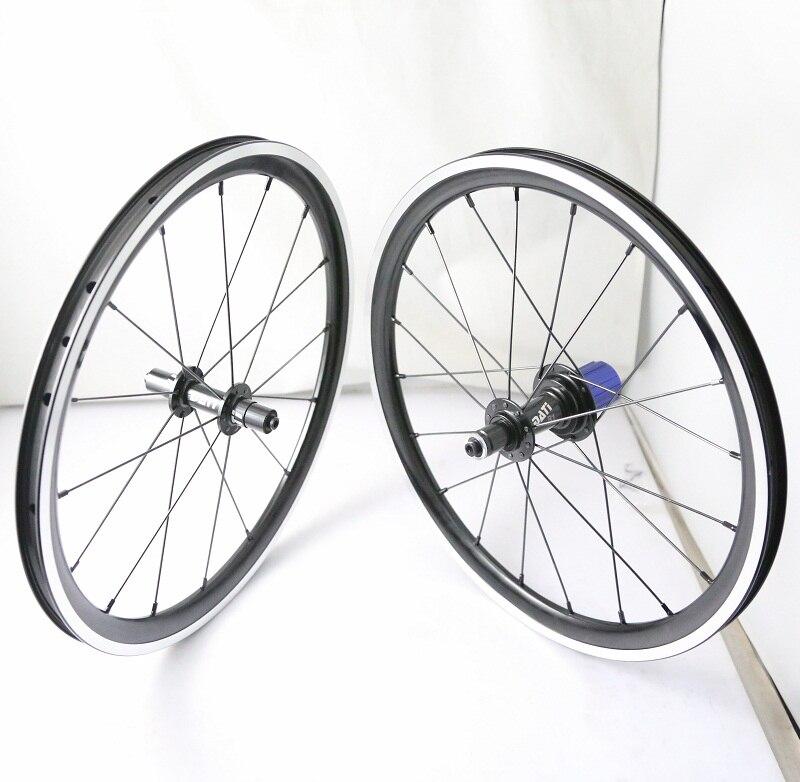 2016 18in 355 Aluminum Alloy FOLDING BIKE Wheelset Wheels 9 10 11S 930g a pair for