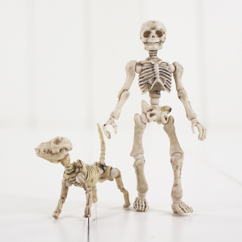 3 8cm Pose Skeleton Action Figure Human Adult Child Dog Skeleton ...