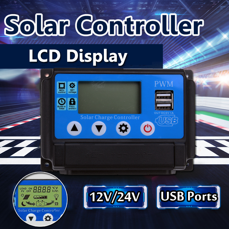 10A?/?20A?/?30A?/?40A?/?50A Solar Charge Controller Regulator 12V/24 Automatic Identification PWN Solar Panel Battery new style metal housing automatic identification power display 12v 24v 30a 20a solar charge controller