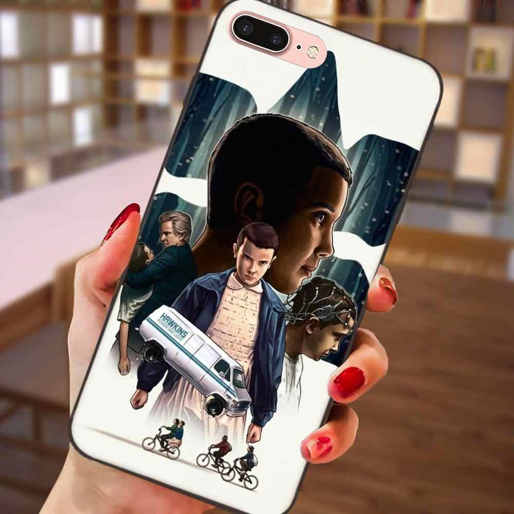 TPU Call Box For Samsung Galaxy Note 4 8 9 S3 S4 S5 S6 S7 S8 S9 S10 Edge Plus Lite I9080 G313 Stranger Things Christmas Lights