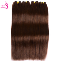 Real Beauty Brazilian Straight Hair Weave Color 4 Remy Human Hair Extensions By Expresss Shipping