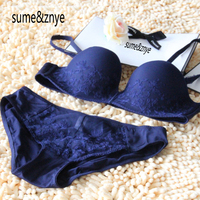 2016 Woman Sexy Wedding Dress Embroidered Half Cup Bra Invisible Lingerie Bra Sets