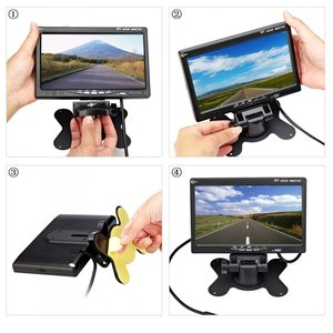 """Image 2 - Podofo 7"""" TFT Color LCD Headrest Car Parking Rear View Reverse Monitor With 2 Video Input 2 AV In For DVD VCD Reversing Camera"""