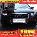 D_YL Car Styling for Audi A4 B7 Headlights 2005-2008 A4 B7 LED Headlight DRL Lens Double Beam H7 HID Xenon bi xenon lens