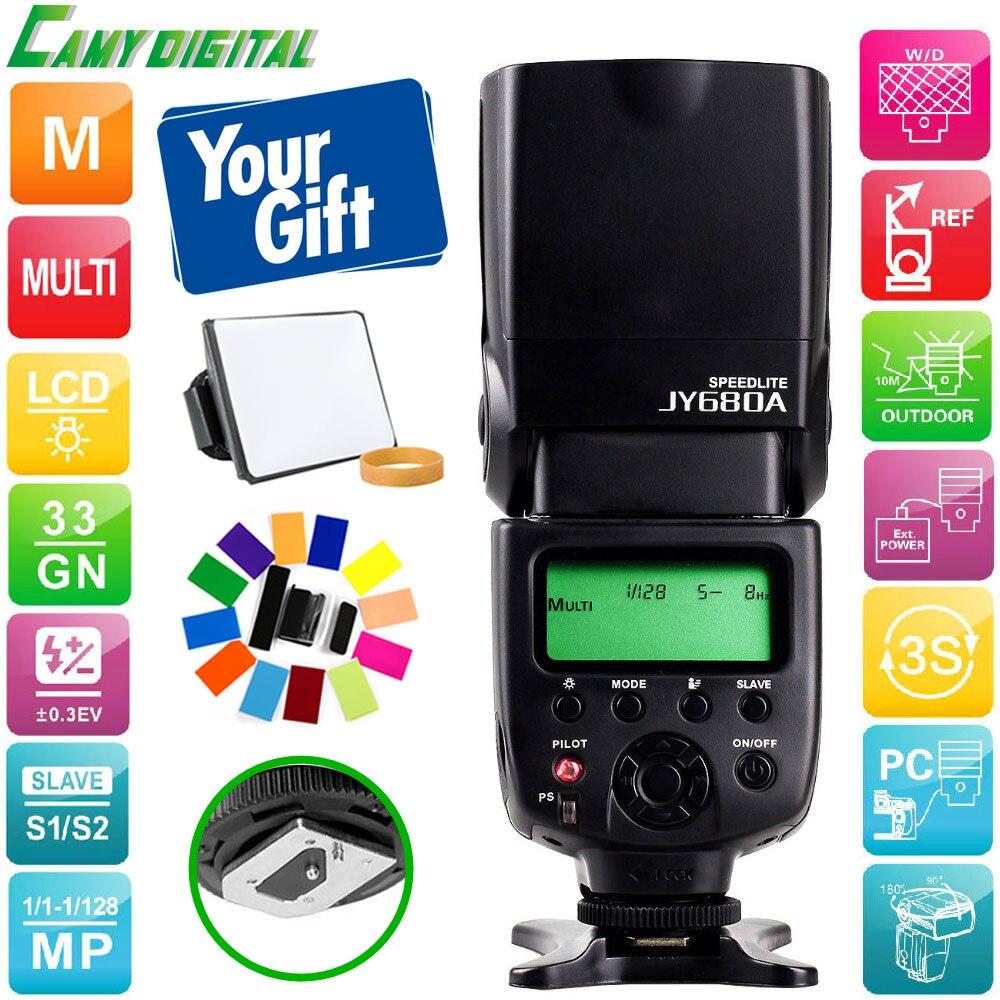 Viltrox alta qualità JY-680A GN33 flash Della Fotocamera Speedlite universale con Supporto Schermo LCD Per Canon/Nikon/pentax/Sony, ecc
