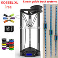 Kossel LINEAR GUIA 1 kg PLA preto ou ouro XL Delta Kossel kit de peças da impressora 3D Rostock kossel k800 XL Kit Impressora 3D