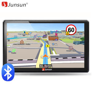 Junsun 7 inch HD Car GPS Navigation FM Bluetooth AVIN Navitel 2018 Europe Map Sat