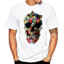 64002960d3ec78 2018 dos homens T-shirt design confortável engraçado Frágil Crânio impresso camiseta  homens casual o-neck manga curta verão home.