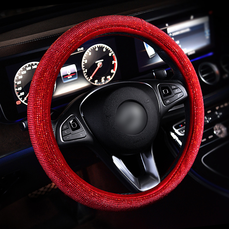 Luxury-Crystal-Purple-Red-Car-Steering-Wheel-Covers-Women-Girls-Diamante-Rhinestone-Car-Covered-Steering