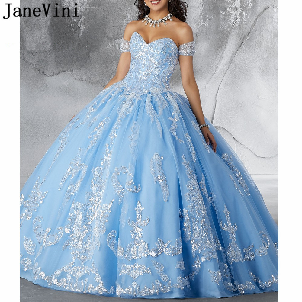 JaneVini Charming Light Sky Blue