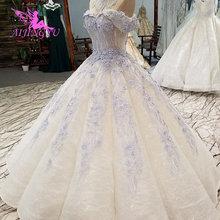 Aijingyuヴィンテージブライダルドレスガーデンガウンパーフェクト婚約素朴なfrocksとセクシーなスパンコールドレスシンプルなホワイトドレス